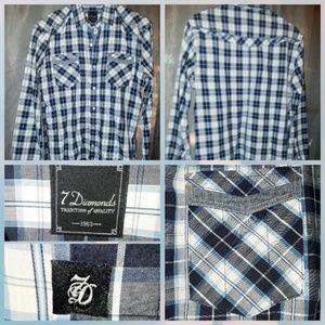 7 Diamonds plaid shirt